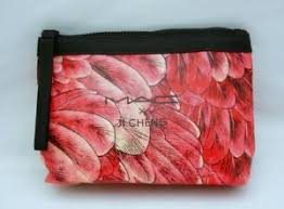 mac x ji cheng makeup cosmetics bag