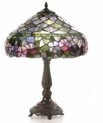 tiffany style glass sunrise table lamp