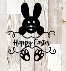 Happy Easter Bunny Vinyl Decal Tumbler Decal Yeti Decal Rtic Sticker Custom Decal Car Decal Macbook Compute Happy Easter Bunny Happy Easter Easter Bunny