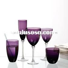 purple glass dinnerware
