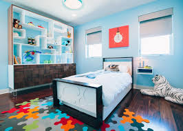 Contemporary Blue Kids Bedroom With Space Travel Theme Hgtv