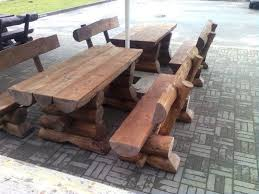 rustic garden furniture set for pub and