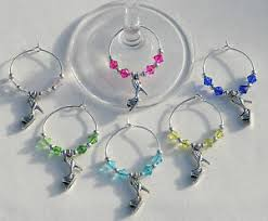 girl s night out wine glass charms
