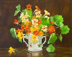 3176: Marion Murray, (20th Century) Nasturtiums Oil on - Oct 04, 2006 |  James Adam & Sons in Ireland