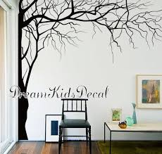 Wall Decal Corner Tree Decal Etsy