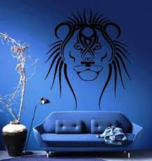 Amazon Com Lion S Head King Of The Jungle Long Mane Animal Tribal Design Wall Mural Vinyl Decal Sticker M262 Home Kitchen