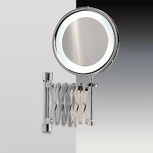 fluorescent mirrors wall mounted brass