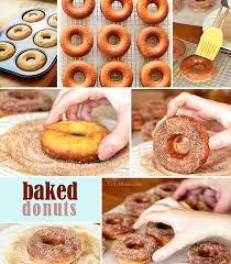 maple cinnmon baked donuts