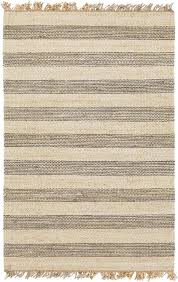 davina gray striped jute fringed rug