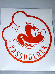 Free Shipping Multiple Colors Available Disney Mickey Mouse Annual Passholder Car Decal Annual Pass Disneyland Passholder Decal Wdw Passholder Decal Walt Disney World Decals