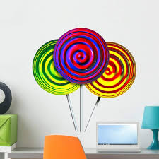 Amazon Com Wallmonkeys Candy Lollipops Wall Decal Peel And Stick Graphic Wm218888 18 In H X 18 In W Home Kitchen