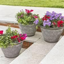 brompton garden planters grey 3 pack
