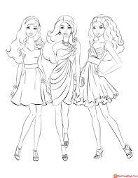 Tranh tô màu búp bê Barbie chỉ dành cho các bé gái
