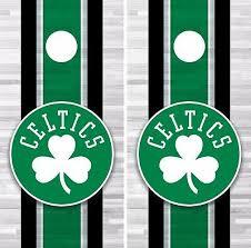 Boston Celtics Cornhole Wrap Nba Logo Game Board Skin Set Vinyl Decal Co559 Cornhole Bag Toss