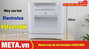 Máy rửa bát Electrolux ESF6010BW, 6 chương trình rửa, bảng điều ...