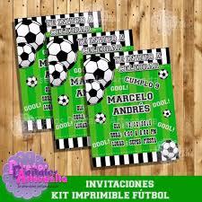 Kit Imprimible Fiesta Futbol Personalizado Pdf 129 00 En