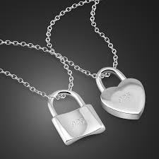 solid 925 sterling silver lock