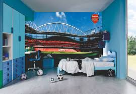 Football Murals For Bedrooms Design Decoration Wall Bedroom Field Sports American Stadium Mural Wallpaper Nfl Decals Walls Sport Apppie Org