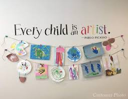 Every Child Is An Artist Decal Children Artwork Display Decal Pica Stephen Edward Graphics