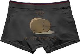 Men's Yes, I Am Just A Potato Underwear Cotton Boxer Briefs ...