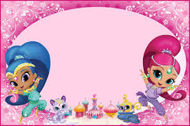 Shimmer And Shine Invitations For Girls Invitacion Cumpleanos