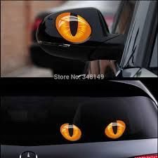 Aliauto 2 X Car Decoration Reality Cat Eye Car Rearview Mirror Window Sticker And Decal For Ford Focuse Vw Golf Skoda Cruze Stickers And Decals Car Decorationcar Mirror Sticker Aliexpress