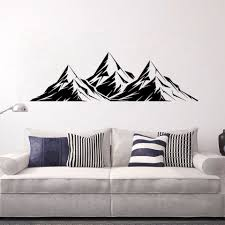 Mountains Room Wall Decals Excellent Mountain Wall Stickers Removable Living Room Decor Vinyl Car Window Art Poster Ay1864 Wall Stickers Aliexpress
