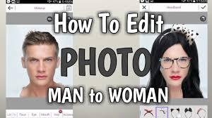 edit photo man to woman youcam makeup