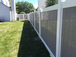 Kingston Vinyl Privacy Fence Grey Fences Modern Garden Design