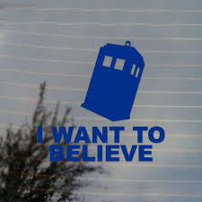 Police Box I Want To Believe Vinyl Decal Sticker Free Us Shipping For Car Laptop Tablets