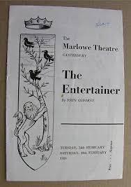 1959 THE ENTERTAINER John Osborne Frank Middlemass Gillian Martell ...