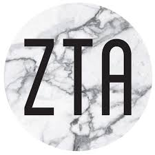 Zeta Tau Alpha Sticker I Decal I Marble I Round 4 Inches M D Sorority Gifts