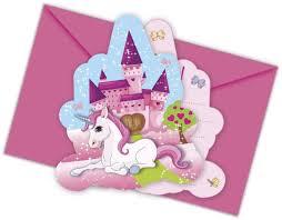 12 Piezas Kit De Invitacion Unicornio Para Cumpleanos Ninos O