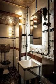 25 catchy industrial bathroom décor