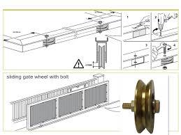 Rueda Puerta Corredera Sin Soporte Canal Cuadrada Sliding Gate Sliding Door Rollers Gate Hardware