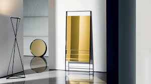 rectangular metal framed mirror