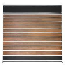 Veranda Euro Style 6 Ft H X 6 Ft W Lattice Top King Cedar Aluminum Composite Horizontal Fence Section Ef 03401 The Home Depot