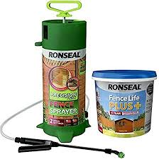 Ronseal 5 Litre Fence Life Plus Sage Green Complete With Hand Pump Fence Pressure Sprayer 5l Capacity Amazon Co Uk Kitchen Home