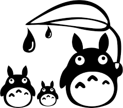 Totoro Family With Leaf Vinyl Car Window Laptop Decal Sticker Ebay