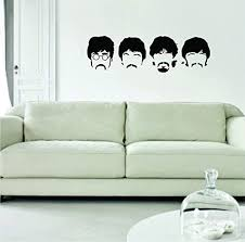 Amazon Com The Beatles Faces Original Wall Decal Sticker Vinyl Art Bedroom Living Room Decor Decoration Teen Quote Inspirational Cute Music John Lennon Paul Mccartney Lyrics Rock Inspire Home Kitchen