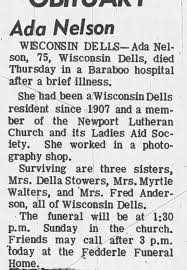 Obituary for Ada Nelson (Aged 75) - Newspapers.com