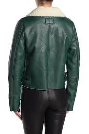faux shearling moto jacket