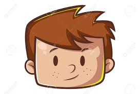 Vector Cartoon Of A Face Of A Boy With Brown Hair. Royalty Free Cliparts,  Vectors, And Stock Illustration. Image 103110823.