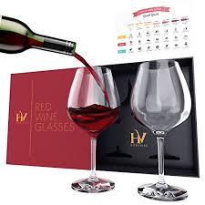 long stem 22oz premium crystal wine red