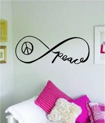 Infinity Peace Wall Decal Sticker Bedroom Room Art Vinyl Home Decor Te Boop Decals