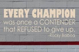 Rocky Balboa Every Champion Sports Quotes Vinyl Decor Wall Decal Customvinyldecor Com
