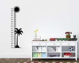Palm Tree Sun Children S Growth Chart Vinyl Wall Decal Rapid Vinyl