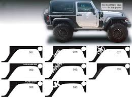 Product Jeep Decal Sticker Rear Quarter Side Graphics 07 16 Wrangler Jk 2 Door