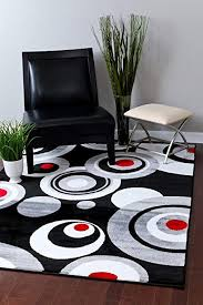 persian rugs 175 gray black white red 5