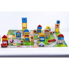 Đồ chơi ghép hình thành phố tương lai bằng gỗ - TimiKi